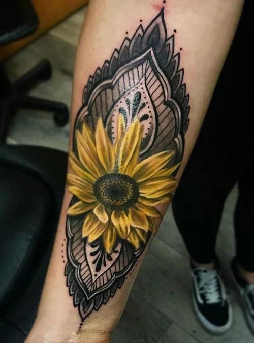 Sunflower Tattoos For Women