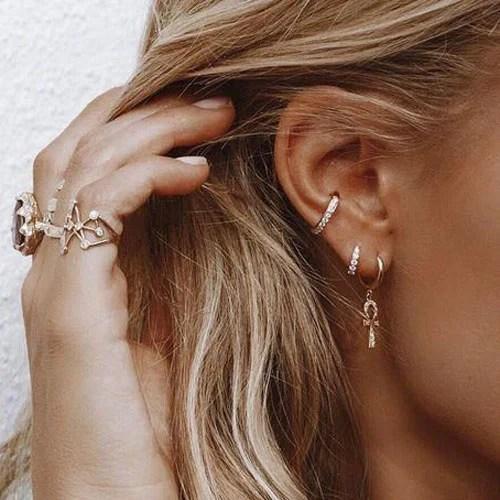Cute Orbital Ear Piercing