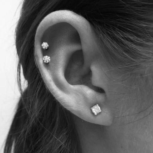 Simple Ear Lobe Cartilage Piercing