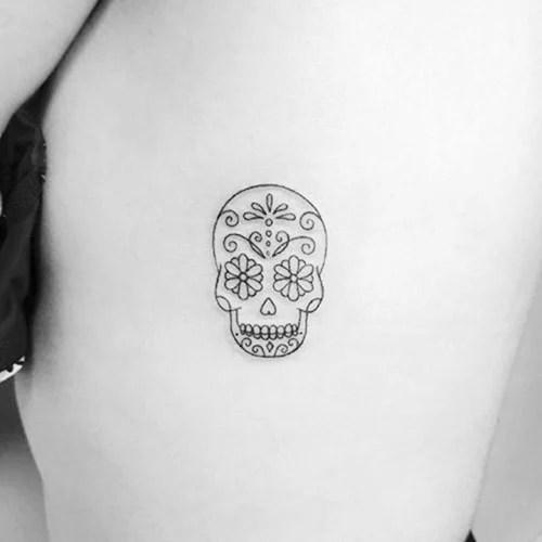 Small Sugar Skull Tattoos