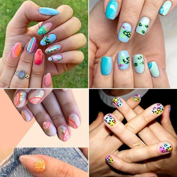 Graphic Art Summer Nails