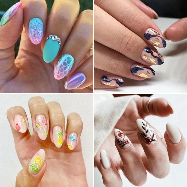 Summer Almond Nails
