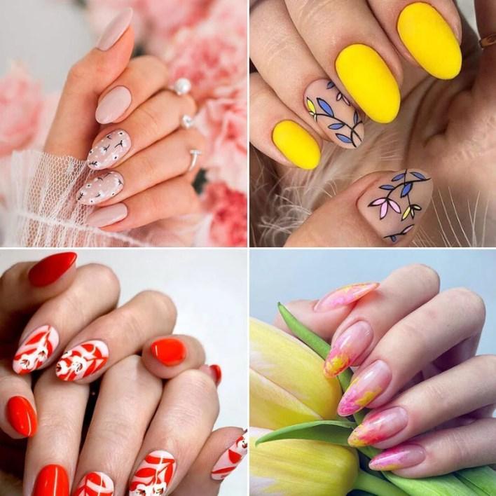 Summer Floral Nail Design