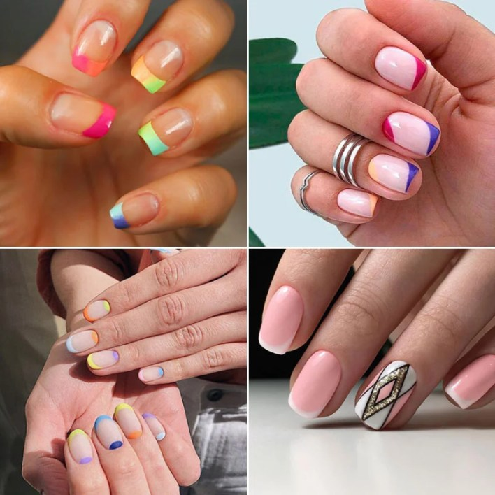 Summer French Tip Nail Design