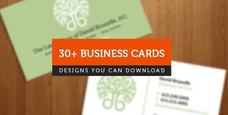 30+ Business Cards Resources for Your Design - Brand