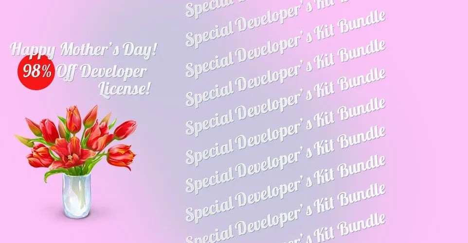 Happy Mothers Day - 98% OFF Wordpress Development Kit - Floral design