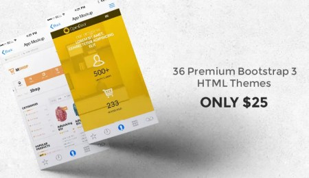Only Today - 36 Premium Bootstrap 3 HTML Themes for just $0.7 each - Brand
