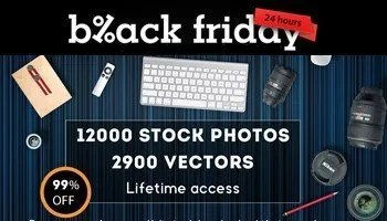 Super Black Friday – Get 12000 Stock Photos and 2900 Vectors for only $25 -