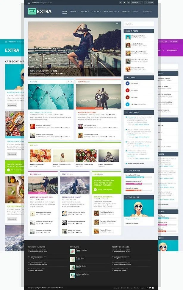 """Complete Review of """"Extra"""" - Magazine Wordpress Theme by Elegant Themes -"""