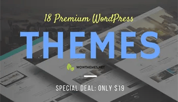Download 18 Premium WordPress Themes for $19 With Extended License! -