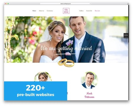 The Best 6 Wedding Wordpress Themes Released in 2017 -