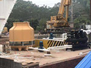 Industrial Water chiller installation