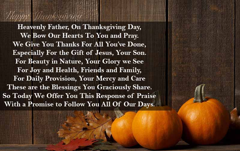 Best Thanksgiving Day Prayer Collection - Top Web Search
