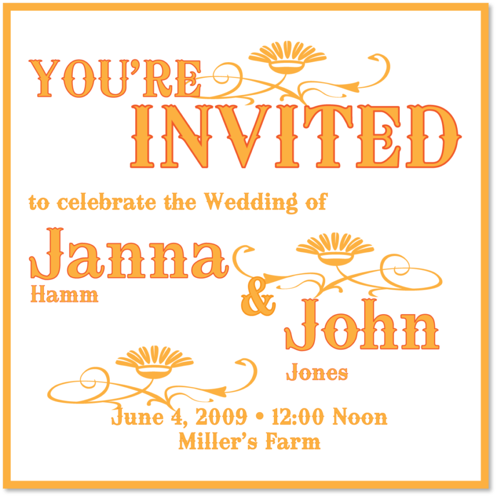 Aisle Say! Wedding Paper's Country Charm invitation