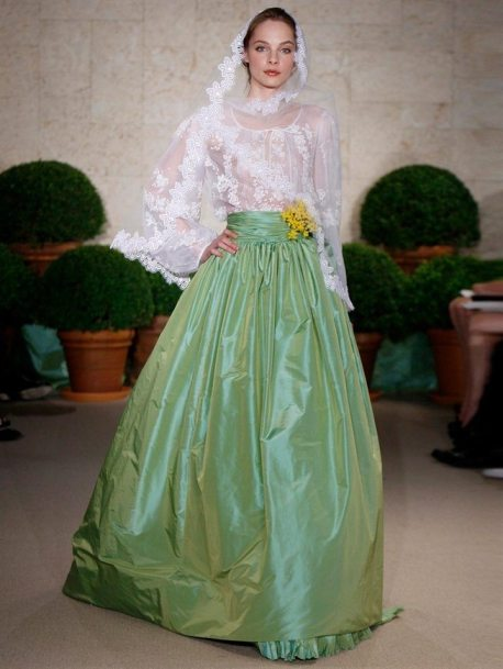 Green Wedding Gown