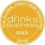 Drinks Business Global Pinot Noir Masters Gold Medal 2015 (smaller, cropped)