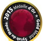 Syrah du Monde, Gold Medal 2015 (smaller)