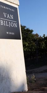 Van Biljon Wines - Entrance