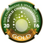 Champagne & Sparkling Wine World Championships - 2016 Gold Medal (cropped)