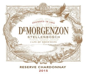 DeMorgenzon Reserve Chardonnay 2015 label (hi res, sharp, clear) (smaller)