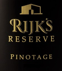 Rijk's Reserve Pinotage 2012