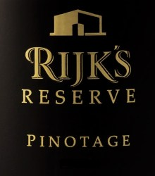 Rijk's Reserve Pinotage 2012