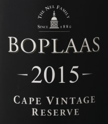 Boplaas Cape Vintage Reserve 2015