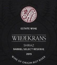 Wildekrans Barrel Select Reserve Shiraz 2015