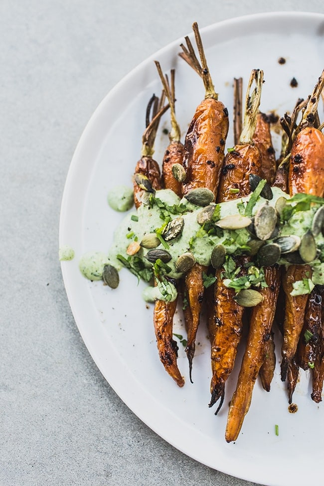 Roasted Carrots with Black Garlic & Herb Yoghurt 2