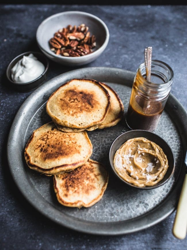 Gingerbread Pancakes with Salted Treacle Butter-4
