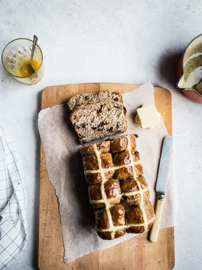 Hot cross bun loaf-6