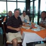 Na delegação carijó, a nutricionista Miriam e o vice-presidente José Roberto Maranhas