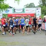 Atletas largam para a corrida do duathlon em homenagem a Thiago Machado