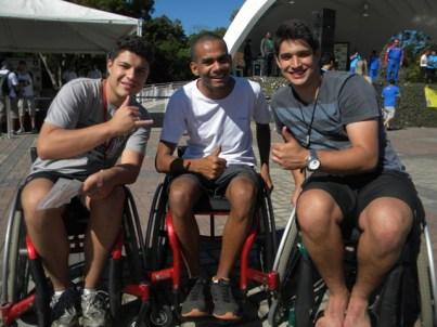 Patrick, Ramon e Hugo conheceram as dificuldades enfrentadas pelos cadeirantes no dia a dia