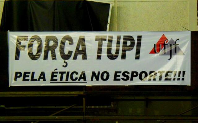 UFJF mostro apoio ao Tupi, que ainda briga no Tribunal para ter a vaga. (Foto: Toque de Bola).