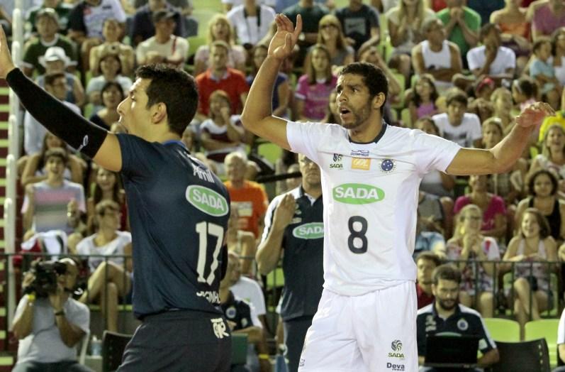 Lance da vitória do Sada Cruzeiro sobre a equipe de Campinas
