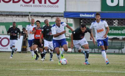 Lance de Caldense x Cruzeiro: empate sem gols