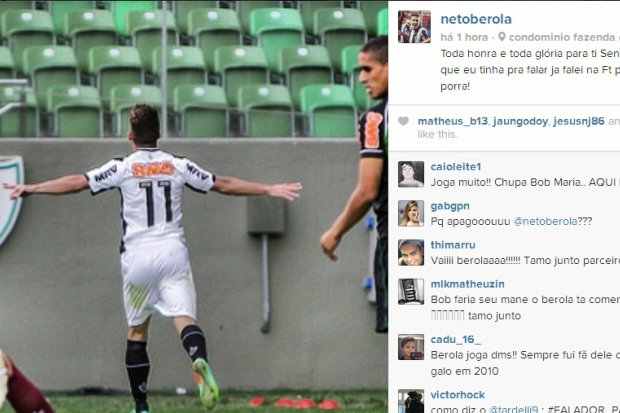 Post de Neto Berola em sua conta no Instagram