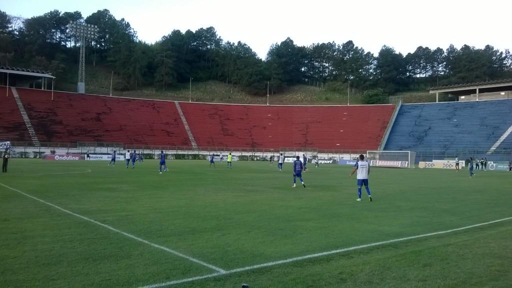 Equipe realizou treino no palco do jogo de estreia na quinta-feira