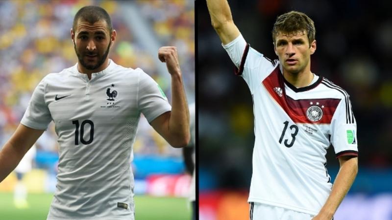 Estrelas de França e Alemanha, Benzema e Muller tem a missão de balançar as redes para levar seu país às semifinais do Mundial