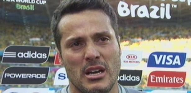 Júlio César sempre demonstrou ser um dos mais emotivos da delegação brasileira