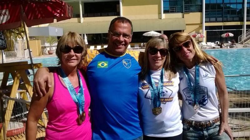 Da esquerda para a direita: Maria Helena Leal Castro, Luiz Carlos Pessoa Nery, Maria Cristina Fabrino e Denise Barra