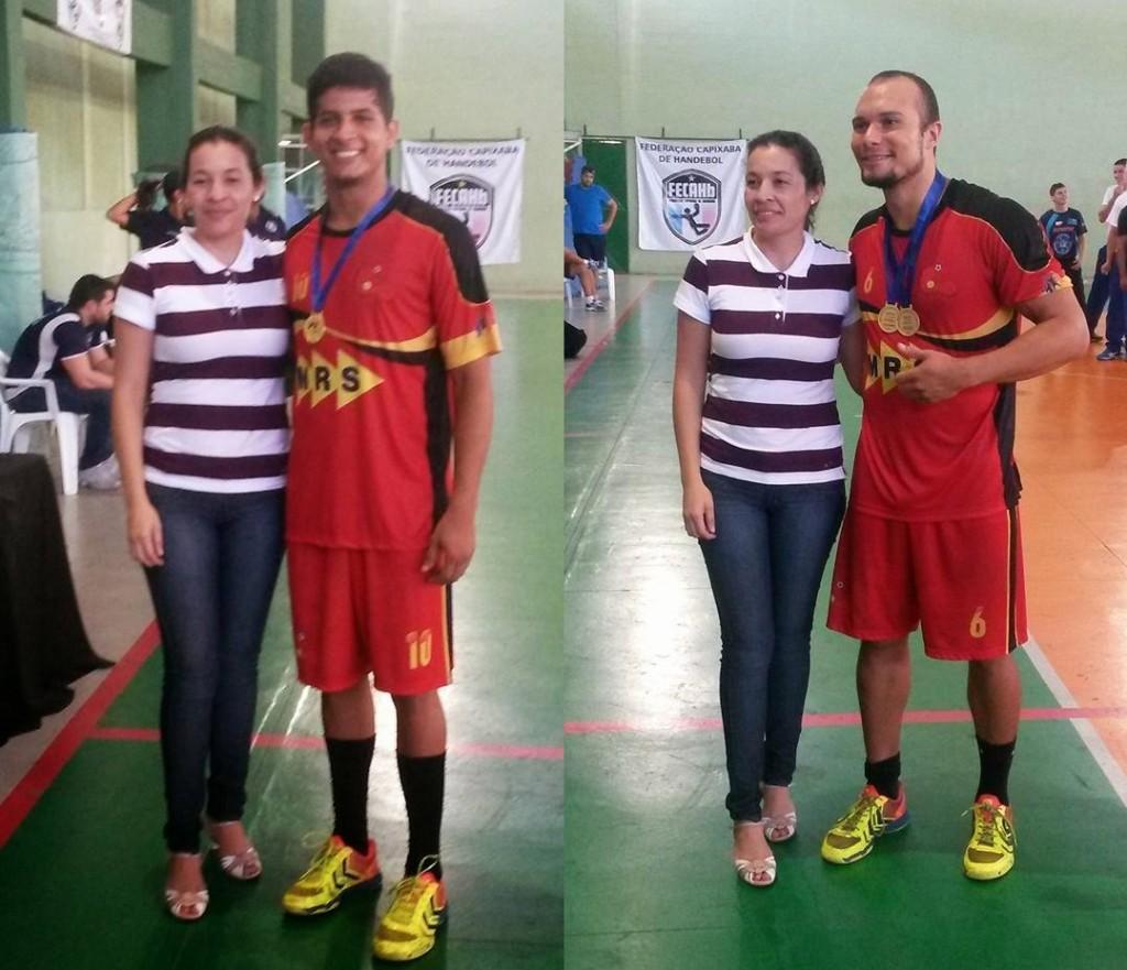 Welton Lima (esquerda) e Nailson Amaral (direita): melhores jogadores de suas posições no torneio