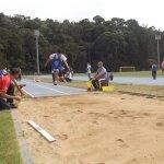 Disputa do salto em distância na 2ª Semana Paralímpica
