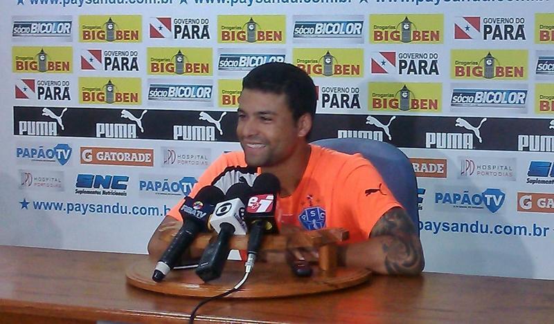 Heverton espera colocar o Papão na Série B. (Foto: Site oficial do Paysandu)