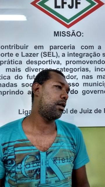 Árbitro Alex Gervásio Apolinário passou por exame de corpo delito no IML da Delegacia de Polícia, em Santa Terezinha