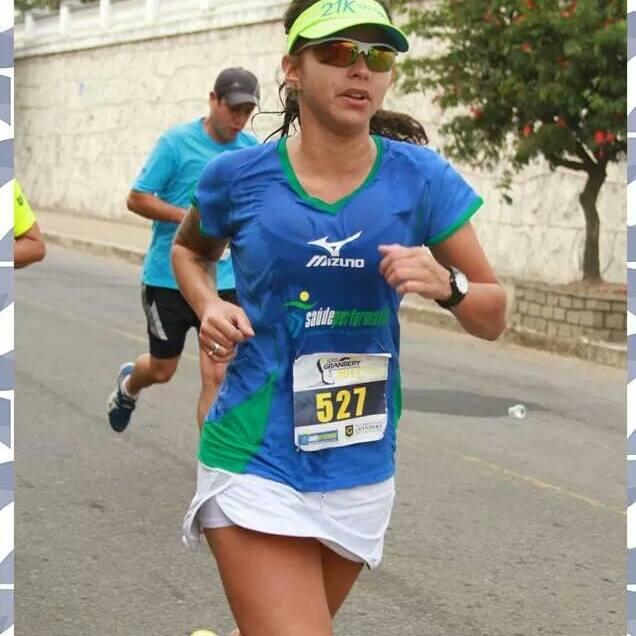 A atleta Elisa Scarlatelli participa desde 2013 das provas de corrida de Juiz de Fora (Foto: Assessoria SaúdePerfomance)