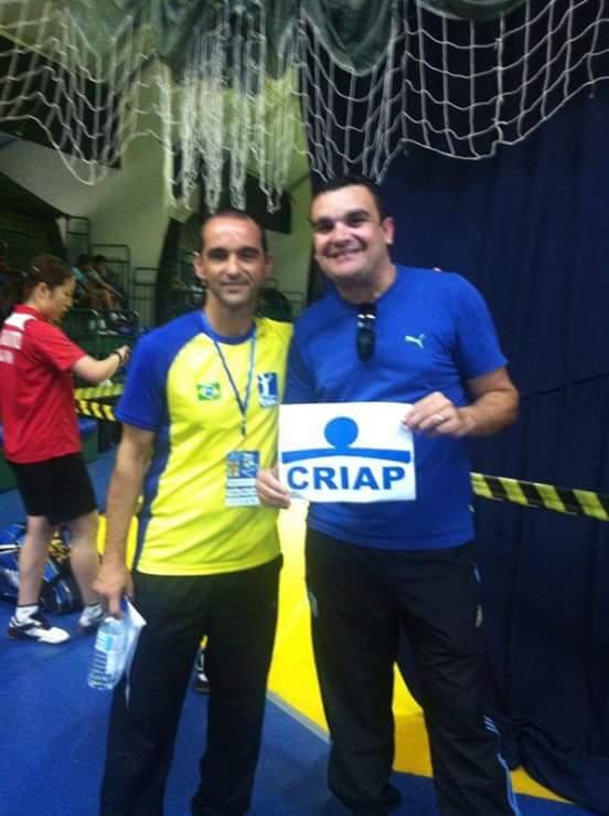 Walter Moraes e o técnico da Seleção Brasileira de Badminton, Marco Vasconcelos (Foto: Walter Moraes)