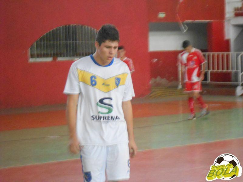 Júlio, começou no gol do Bompas, mas durante o jogo foi para a linha e ainda marcou um gol
