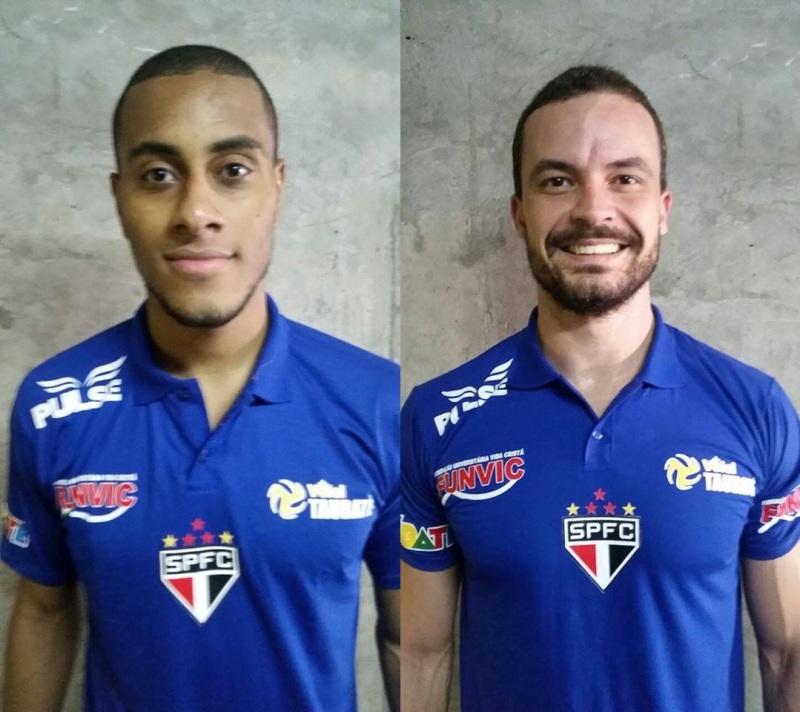 Lucarelli (esquerda) e Riad já vestiram a camisa com o escudo do Tricolor Paulista